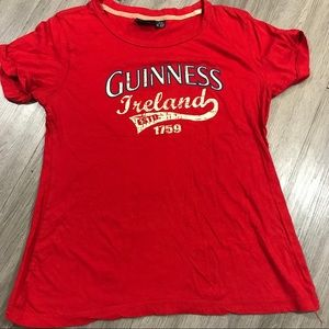 Guinness Ireland Red Crew Neck T-Shirt size 14/16